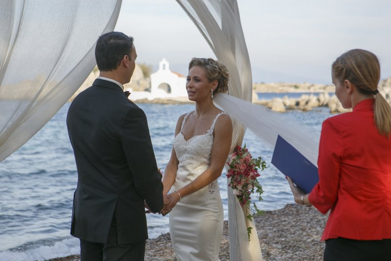 Beach wedding Greece