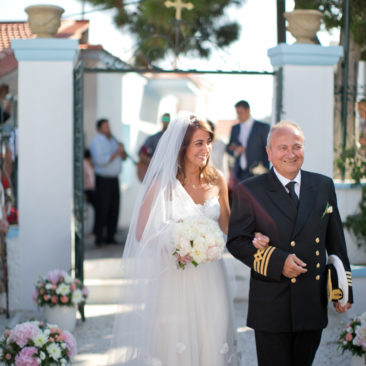 Romantic and traditional Greek island wedding