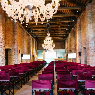 The beautiful event space of Hotel Cipriani where the sessions were held