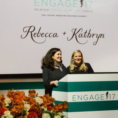 Rebecca Grinnals and Kathryn Arce the founders of Engage! at the opening session