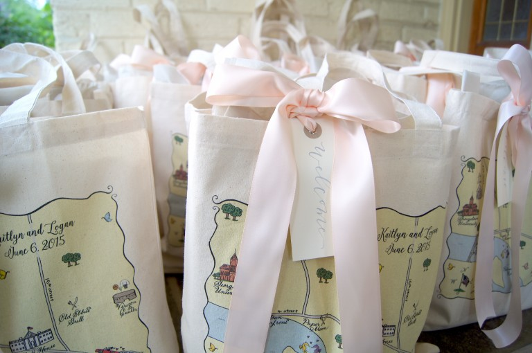 Wedding welcome bags images wedding dress decoration for Wedding dress travel case