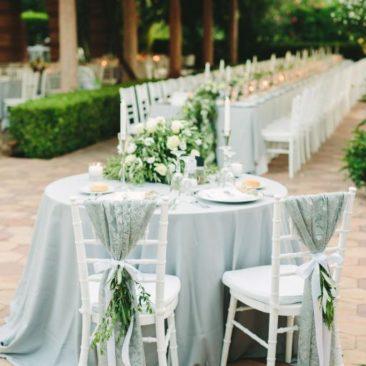 Chic Greek Island Wedding Sweetheart Table