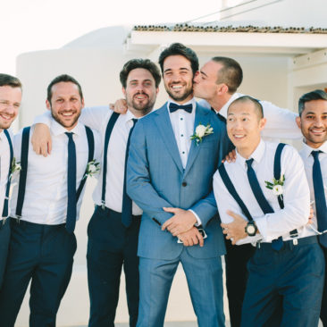 Santorini winery wedding