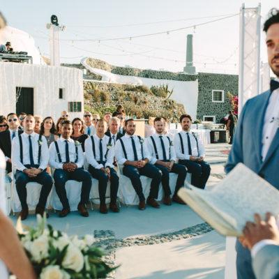 Santorini island wedding