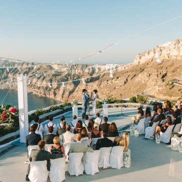 Santorini island wedding