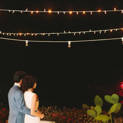 Santorini winery wedding